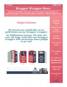 Krapper Wrapper News Feb 14th, 2016...Politicians on Krapper Wrapper