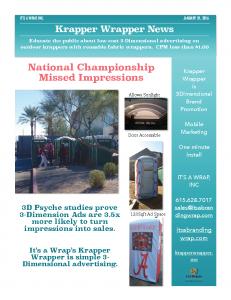 Krapper Wrapper News Jan 31st, 2016...2016 College Football National Championship