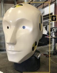 Giant crash dummy head