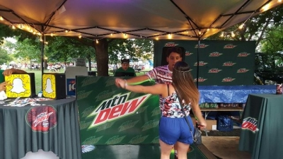 How did Chicago do the Dew? A Mountain Dew dance party!