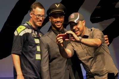 Alaska Airlines VIP event starring Russell Wilson