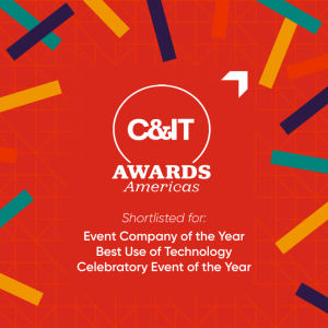 Shortlisted: EVENT COMPANY OF THE YEAR, BEST USE OF TECH, AND CELEBRATORY EVENT