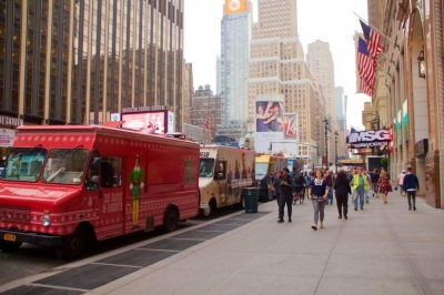 AMC's Food Truck Village in NYC.